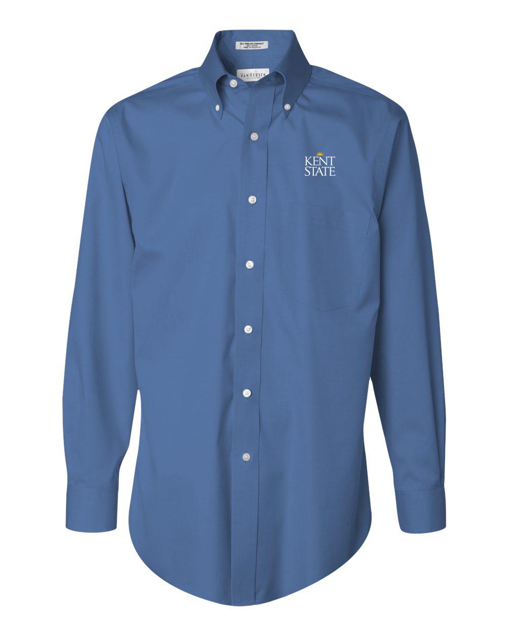 Men 39 s van heusen non iron pinpoint oxford shirt for Van heusen iron free shirts