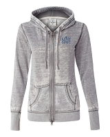 J. America Ladies Zen Fleece Full Zip Hoodie