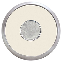 Coasters   Round Brushed Zinc Coaster