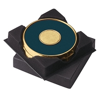 Coasters   Two Coasters in Deluxe Black Flocked Gift Box