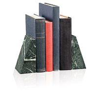 Paperweights Verde Marble Bookends