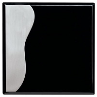Black with Aluminum Plaque - 8