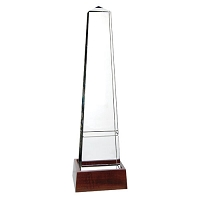 Awards Bristol Obelisk with Wood Base