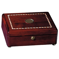 Coasters   Rosewood Inlaid Rectangular Box