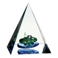 Art Glass Pyramid of Success