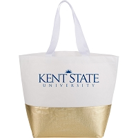 Large Non-Woven Metallic Bottom Tote